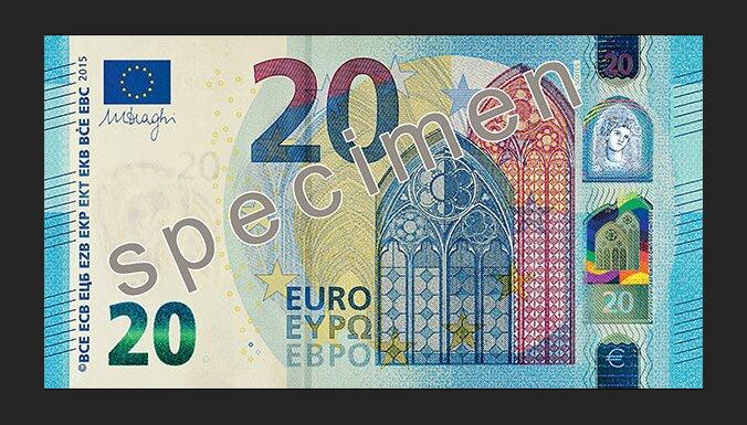 ФОТО: Представлена новая банкнота номиналом в 20 евро