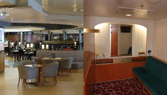 Foto: Kā izskatās prāmja 'Romantika' telpās un kajītēs pēc remonta