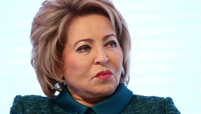 Матвиенко переизбрали спикером. Статья о ее уходе привела к скандалу