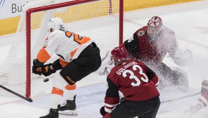 NHL čempionāts: apraujas divu komandu piecu uzvaru sērija, Ovečkins kāpj statistikā
