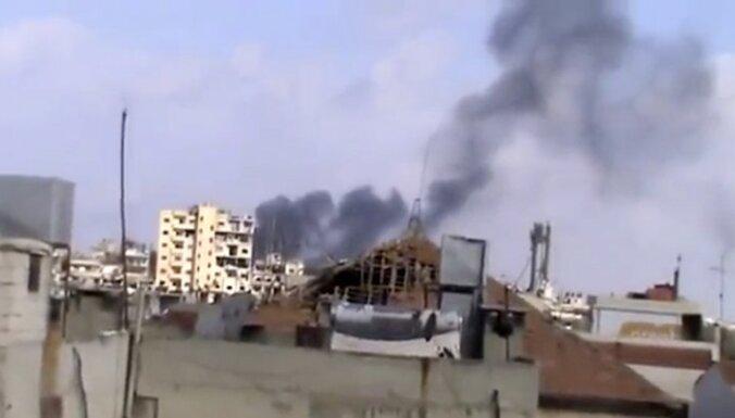 Homsas pilsēta Sīrijā piedzīvo pēdējo mēnešu smagāko apšaudi