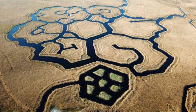 Neparastie kanālu raksti Engures ezerā