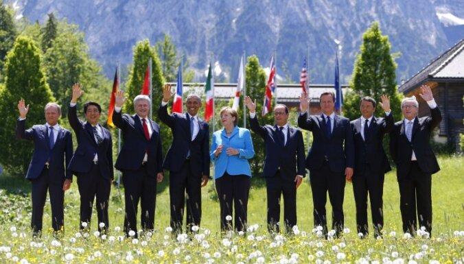 Obama aicina G7 līderus iestāties pret Krievijas agresiju Austrumukrainā