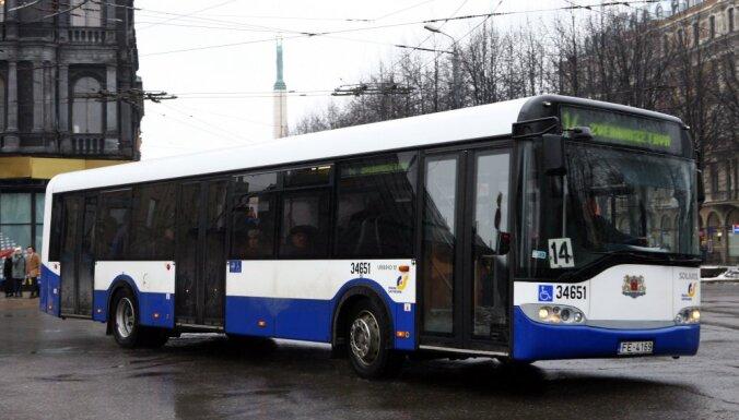 Из-за аварии в Риге временно не курсировали автобусы №14