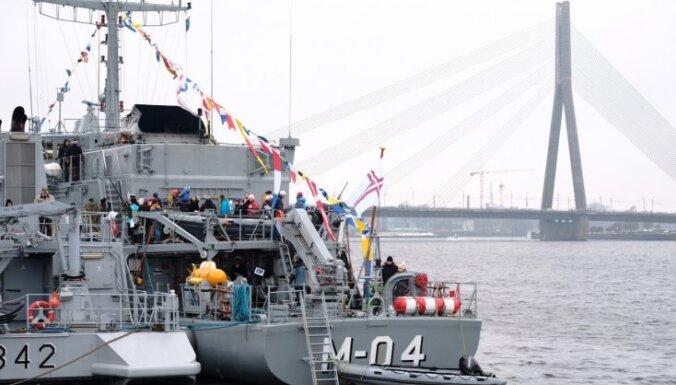 В Рижском пассажирском порту можно осмотреть военные корабли НАТО