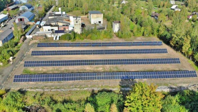 Uzstādīts lielākais saules paneļu parks Kurzemē