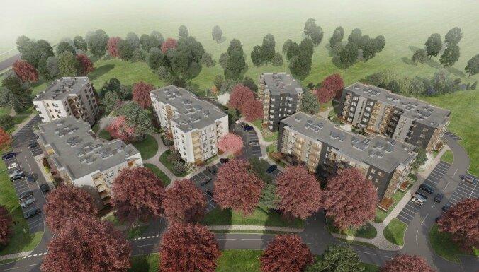 Vizualizācija: Uzsākta ēku kompleksa 'Trebū Home' otrās kārtas būvniecība