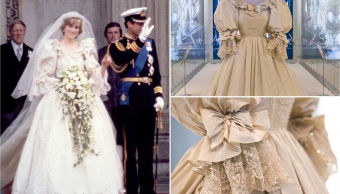 Подвенечное платье принцессы Дианы впервые за 25 лет представлено на выставке