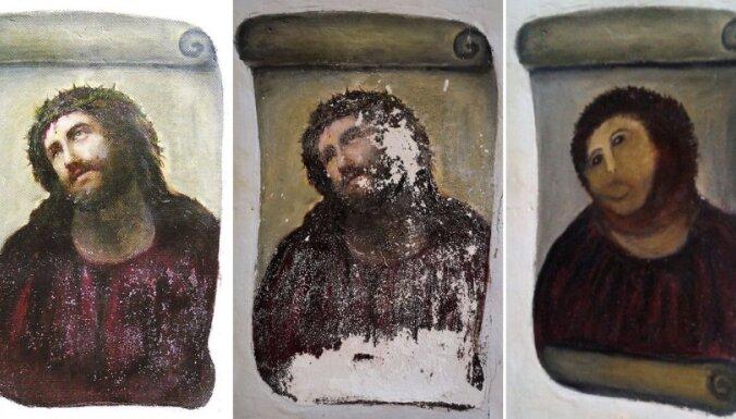 """Бабушка """"отреставрировала"""" фреску: реставраторы в шоке"""