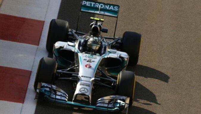 Izšķirošo cīņu par F-1 titulu no 'pole position' sāks Rosbergs
