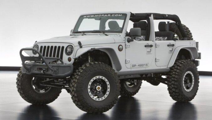 'Mopar' sagatavojis sešus 'Jeep' prototipus bezceļu braukšanai
