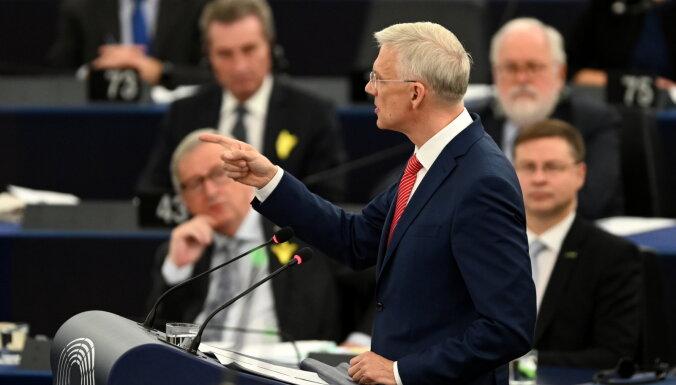 Robežas, tiešmaksājumi un Ķīna – Kariņš par Eiropas vienotības problēmām