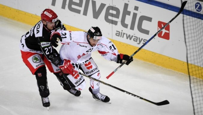 Cibuļskim vārti 'Mountfield' uzvarā IIHF Čempionu līgas spēlē
