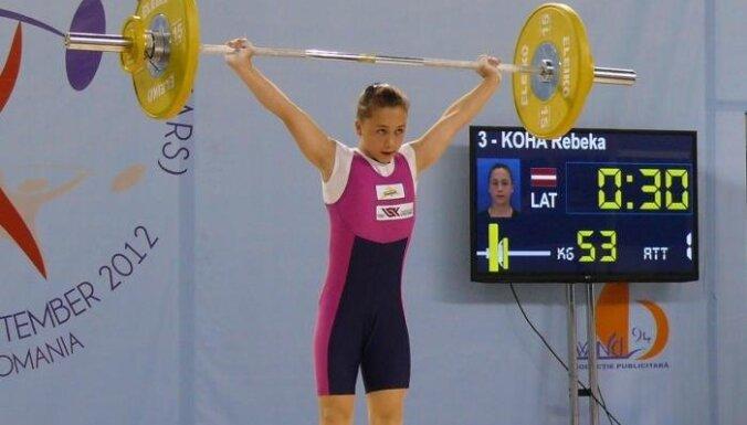 Латвийская тяжелоатлетка установила национальный рекорд
