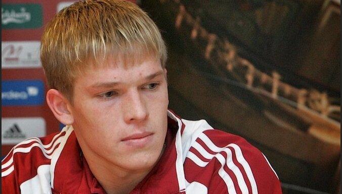 На гол эстонского защитника латвийский форвард Руднев ничем не ответил
