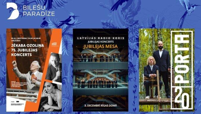 LRK jubilejas koncerti, pasaules mūzikas festivāls PORTA un Jēkaba Ozoliņa jubilejas svinības