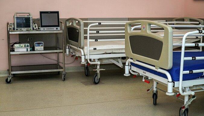 ФОТО: В Рижской 1-й больнице открывается отделение для пациентов с Covid-19