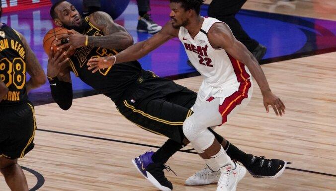 Batlers ar 'triple double' panāk sesto spēli NBA finālsērijā