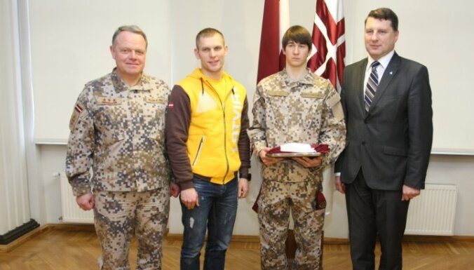 Фотогалерея: Проводы латвийских спортсменов-военнослужащих в Сочи