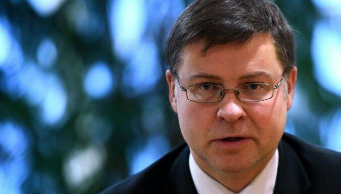 Домбровскис: чтобы получить одобрение Еврокомиссии, Латвии придется выполнить требования к бюджетному дефициту