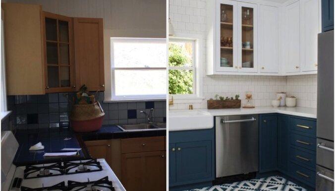 Pirms un pēc: sešu nelielu virtuvju pārvērtības
