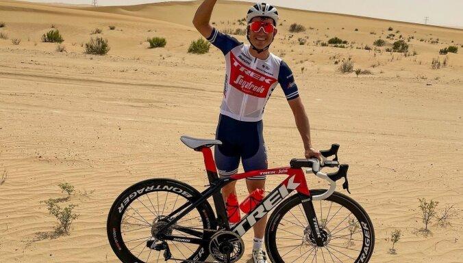Liepiņš izcīna ceturto vietu 'UAE Tour' velobrauciena 1. posmā