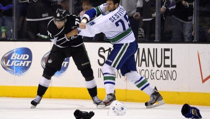 Canucks vs Kings, Jordan Nolan, Hockey
