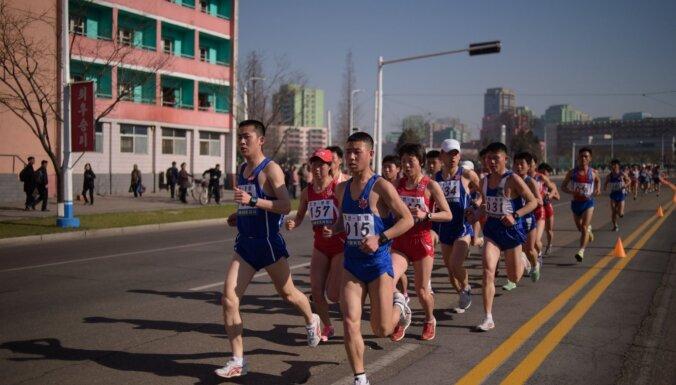 Koronavīrusa dēļ Ziemeļkoreja atceļ ikgadējo Phenjanas maratonu