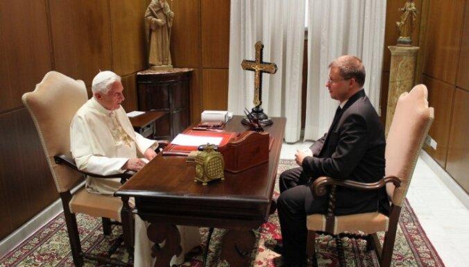 Бенедикт XVI: я рад оздоровлению Латвии после кризиса