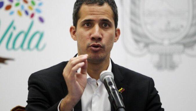 Gvaido aicina Venecuēlā pirmdien rīkot protesta akcijas