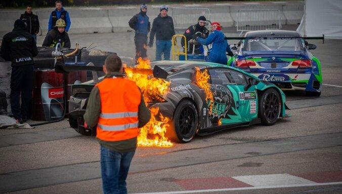 Latviešu komandas 'Lamborghini' piedzīvo neveiksmi NEZ izturības čempionāta posmā Biķerniekos