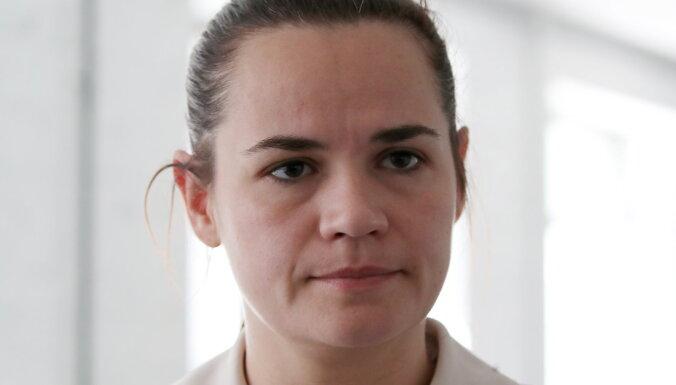 Lukašenko konkurente Tihanovska ieradusies Lietuvā