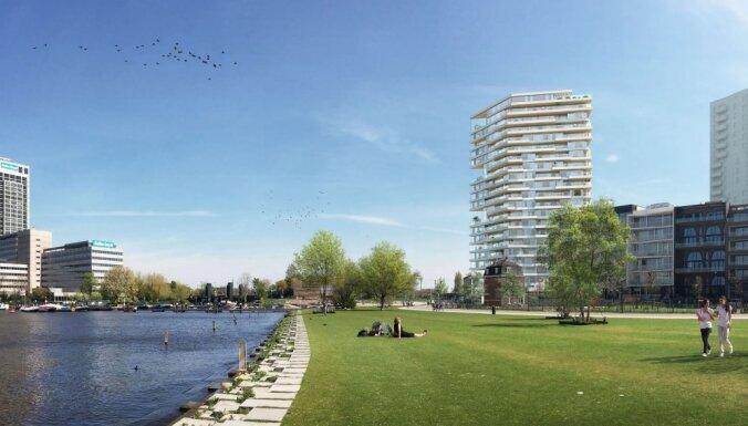 Amsterdamā taps pasaulē augstākais koka debesskrāpis