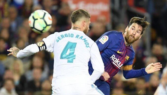 'Barcelona' un 'Real Madrid' aizraujošā 'El Clasico' duelī cīnās neizšķirti