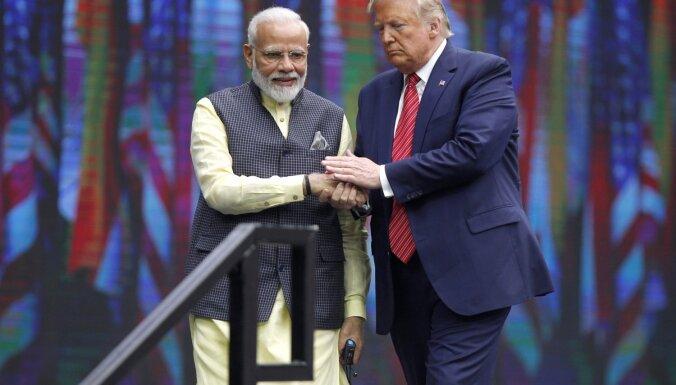 Indijas premjers un Tramps Teksasā vienojas cīnīties ar teroristiem