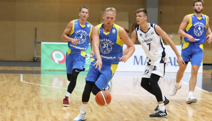 'Ventspils' basketbolisti Kurzemes derbijā sagrauj 'Liepāju'