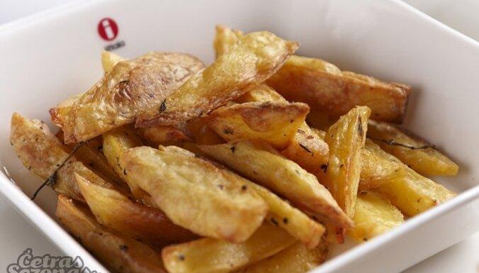 Kartupeļu daiviņas ar timiānu