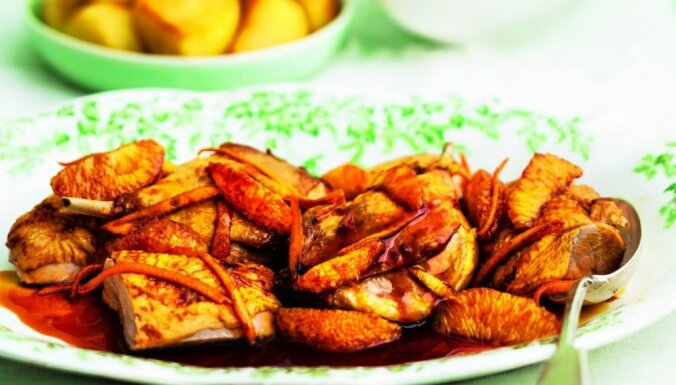 Fotorecepte: Pīles cepetis ar apelsīnu mērci