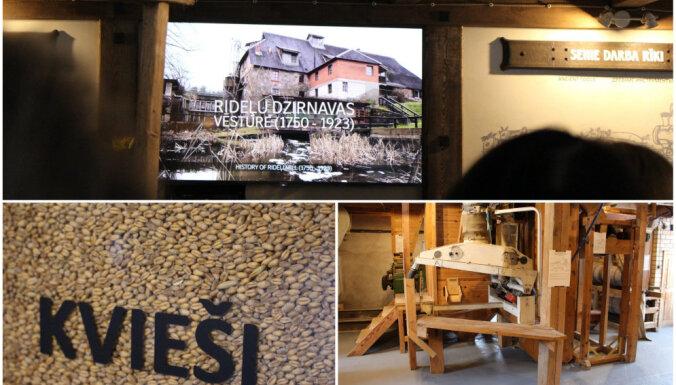 Krātuve trijos stāvos: svinīgi atklāts graudsaimniecības muzejs Rideļu dzirnavās