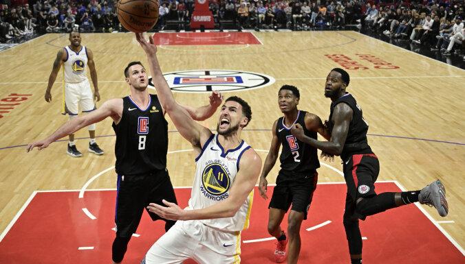 Durants iemet 50 punktus un palīdz 'Warriors' uzvarēt sēriju pret 'Clippers'