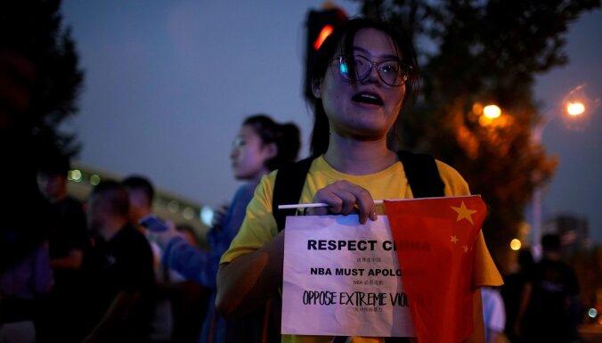 NBA un Ķīnas saspīlējums: atceļ 'Lakers' un 'Nets' mediju plānotos pasākumus
