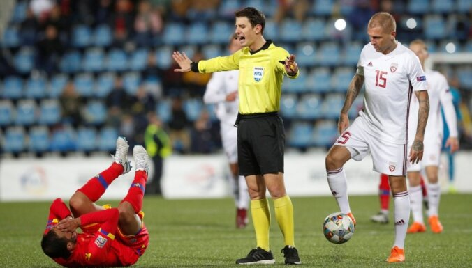 Latvijas futbola izlase saglabājusi pozīciju FIFA rangā
