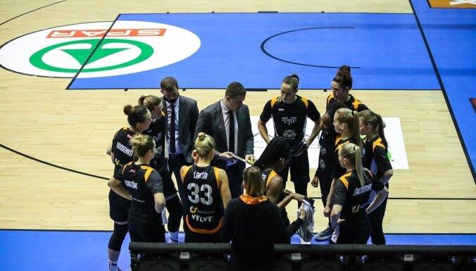 Atcelta 'TTT Rīga' spēle par bronzas medaļām Eiropas Sieviešu basketbola līgā
