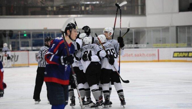 'Rīgas' hokejisti Sahalīnā pārtrauc četru zaudējumu sēriju