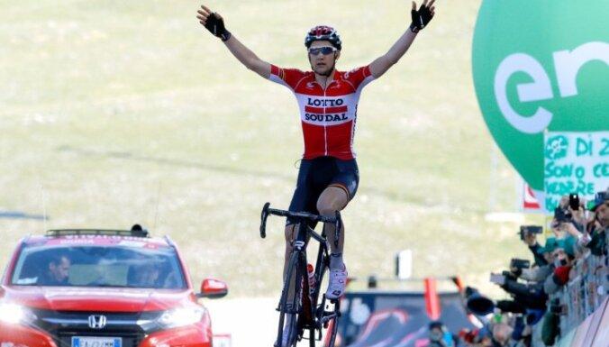 Beļģis Velenss uzvar 'Giro d'Italia' sestajā posmā