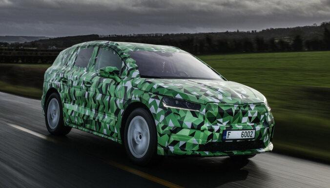 'Škoda' parādījusi šogad gaidāmo elektrisko apvidnieku 'Enyaq'