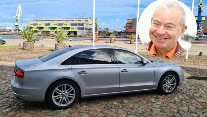 Foto: Pārdošanā nonācis Aivara Lemberga lietotais 'Audi A8' limuzīns