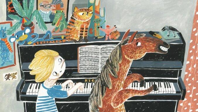 Izdod Ineses Zanderes un Annas Vaivares bilžu grāmatu 'Zirgā'