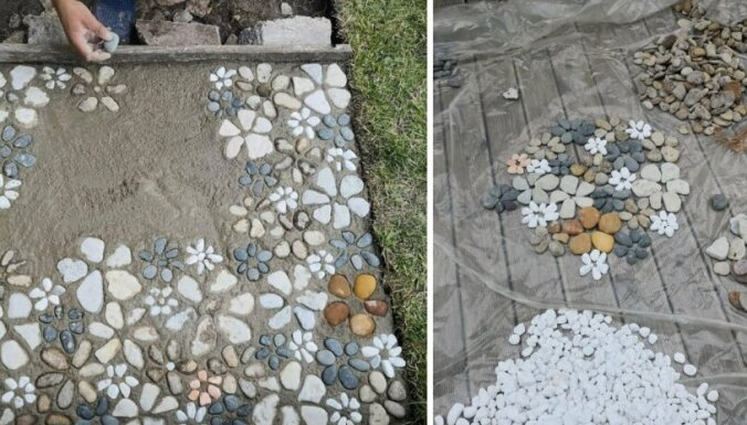 Foto: Kā izveidot māksliniecisku dārza taciņu no akmeņiem