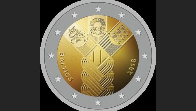 Baltijas valstu simtgadēm par godu taps divu eiro monēta ar bizi